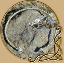 Wolves from Iceland silver torc